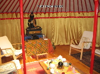 Yurt from inside