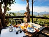 Breakfast on terrace of bedroom 1